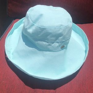 Scala large blue sun hat NWT